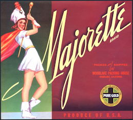 #ZLC357 - Majorette Orange Crate Label