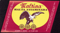 #ZLBE030 - Maltina Vitaminada Beer Label - Healthy Beer!
