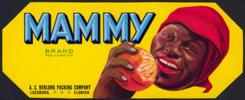 #ZLCA*018 - Pair of Mammy Brand Orange Crate Labels