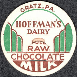 #DC241 - Hoffman's Dairy Raw Chocolate Milk Bottle Cap - Gratz, PA
