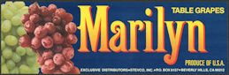 #ZLSG105 - Marilyn Grape Crate Label - Beverly Hills, California