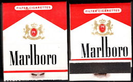 #TM102 - Full Unused Pack Front Cover Striker Marlboro Cigarettes Matches