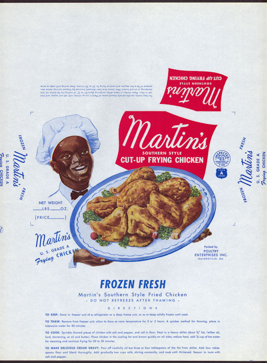 #NE032 - Large Martin's Southern Style Frying Chicken Box Wrapper