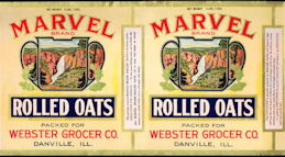#ZLCA912 - Huge Marvel Rolled Oats Double Image Cannister Label