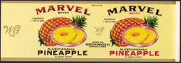 #ZLCA164 - Uncommon Large Size Marvel Brand Sliced Hawaiian Pineapple Label