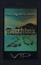 ##MUSICBP0053  - Uncommon 1999 Matchbox 20 Laminated VIP Backstage PERRI Pass from The Big Rock Show Tour