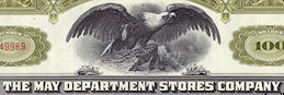 #ZZCE053 - The May Department Stores Stock Certificate