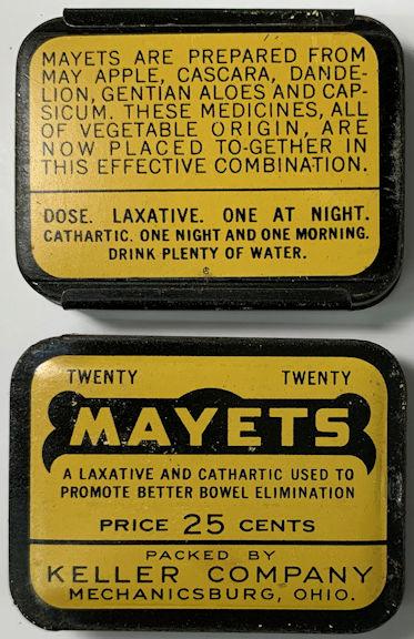 #CS103 - Mayets Laxative Tin