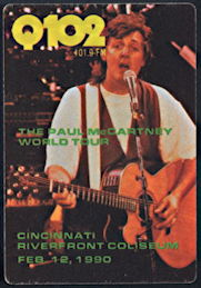 ##MUSICBP0271  - Paul McCartney OTTO Cloth Radio Pass from the 1990 Cincinnati Concert