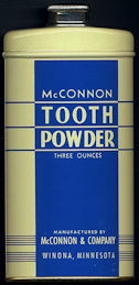 #CS360 - Large McConnon Tooth Powder Tin