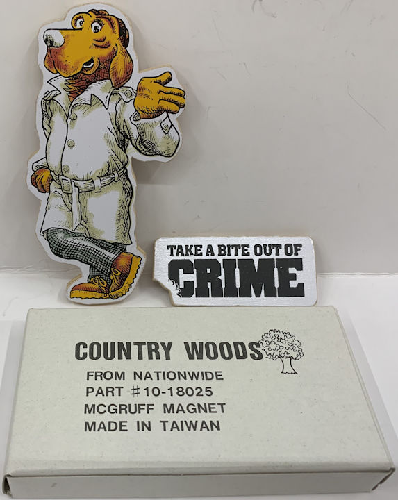 #CH478 - Group of 4 McGruff the Crimedog Large Magnet Sets in Original Boxes