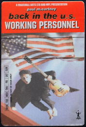 ##MUSICBP0391 - Paul McCartney Working Personnel OTTO Cloth Backstage Pass from the Driving USA Tour