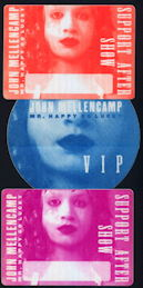 ##MUSICBP0124 - John Mellencamp OTTO Cloth Backstage Pass from the 1997 Mr. Happy Go Lucky Tour - As low as $2 each