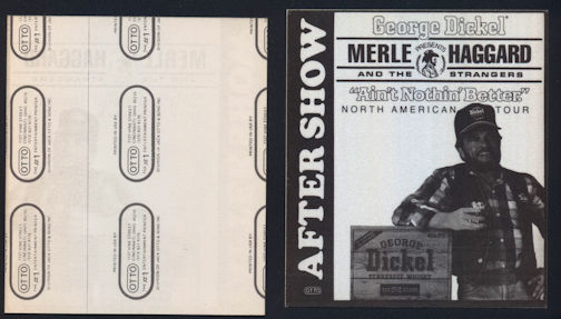 ##MUSICBP0051  - Rare 1987 Merle Haggard Cloth Backstage Pass from the Ain't Nothin' Better Tour