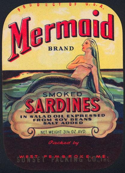 #ZLCA273 - Mermaid Smoke Sardines Label