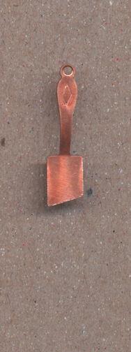 #BEADSC0283 - Copper Spatula Charm - As low as 10¢ each