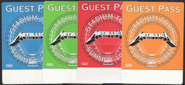 ##MUSICBP0836 - Super Rare Group of 4 Different OTTO Cloth Guest Backstage Passes from the 1992 Metallica Stadium Tour