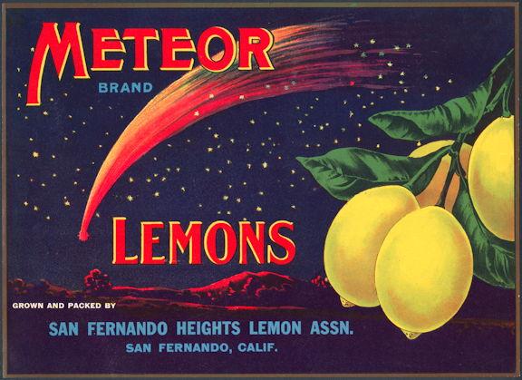 #ZLC281 - Meteor Brand Lemon Label