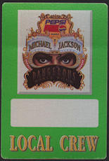 ##MUSICBP0046  - Michael Jackson OTTO Cloth Backstage Pass from the 1992 Dangerous Tour