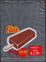 #PC110 - Group of 4 Elsie (Borden) Family Pack Fudgsicle Bags