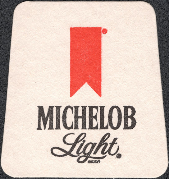 #SP083 - Group of 12 Trapezoidal Shaped Michelob Beer Coasters