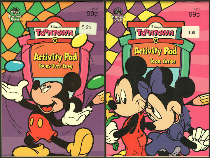 #CH470 - Group of 2 Licensed Disney ToonTown Activity Pads Featuring Mickey Mouse