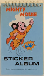 #CH451 - Group of 12 Mighty Mouse Sticker Albums - Viacom