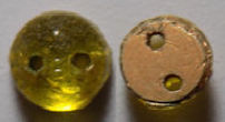 #BEADS0601 - Group of 15 Roaring 20s Citron Colored Sew-On Beads