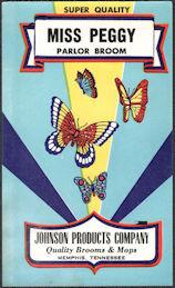 #ZLB057 - Fancy Miss Peggy Parlor Broom Label - Butterflies