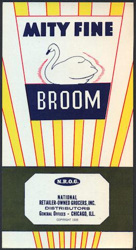 #ZLB041 - Mity Fine Broom Label - Chicago, Illinois