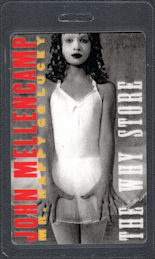 ##MUSICBP0698 - John Mellencamp OTTO Laminated Backstage Pass from the 1997 Mr. Happy Go Lucky Tour with The Why Store