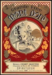 #ZLW151 - Large Grande Fine Mont Dore' French Spirits Bottle Label