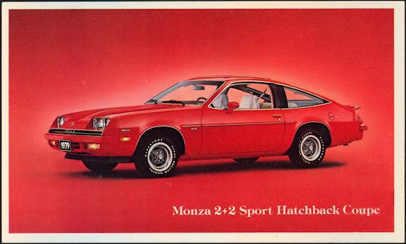 #CA512 - 1979 Monza 2 + 2 Sport Hatchback Advertising Postcard