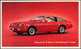 #CA512 - 1979 Monza 2 + 2 Sport Hatchback Advertising Postcard