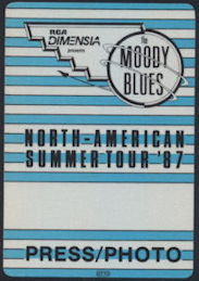 ##MUSICBP0330  - 1987 Moody Blues Summer Tour Cloth OTTO Backstage Pass