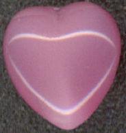 #BEADS0129 - Czech Pink Moonstone Heart Cabochon