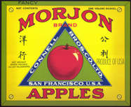 #ZLC297 - Morjon Brand Apples Crate Label