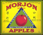 #ZLC297 - Morjon Brand Apples Crate Label