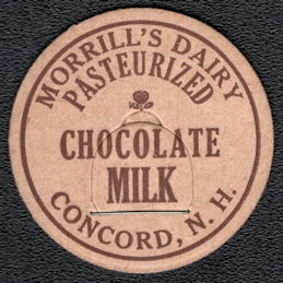 #DC206 - Morrill's Dairy Pasteurized Chocolate Milk Bottle Cap