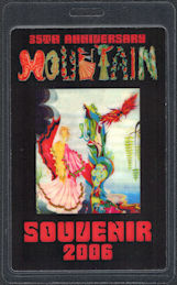 ##MUSICBP0863 - Rare OTTO Laminated Mountain (Leslie West) 35th Anniversary Backstage Pass