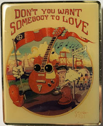 ##MUSICBG0139 - Licensed Stanley Mouse Magnet Featuring Somebody to Love - Jefferson Airplane