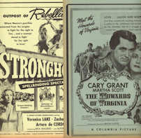 #CH406  - 1940s First Run Movie Posters Broadsides - As low as $1.50