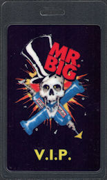 ##MUSICBP0686 - Mr. Big OTTO Laminated VIP Backstage Pass from the 1991 Lean Into It Tour - Skull and Drills