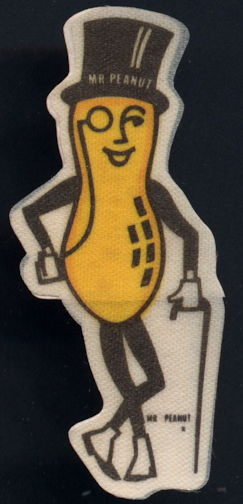 #CH374 -  Group of 8 Planters Mr. Peanut Stickers