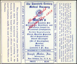 #ZBOT420 - Twentieth Century Medical Discovery Bottle Label