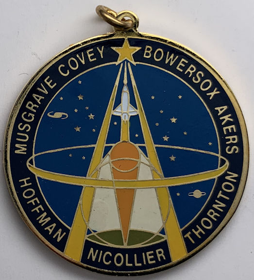 #MS341 - Large Metal Pendant Made for the Launch of the NASA STS-61 Hubble Repair Mission