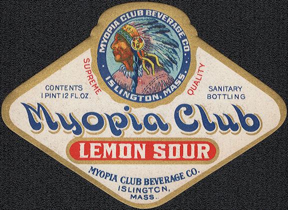 #ZLS234 - Rare Myopia Club Lemon Sour Soda Bottle Label