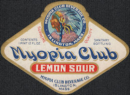 #ZLS234 - Rare Myopia Club Lemon Sour Soda Bottle Label