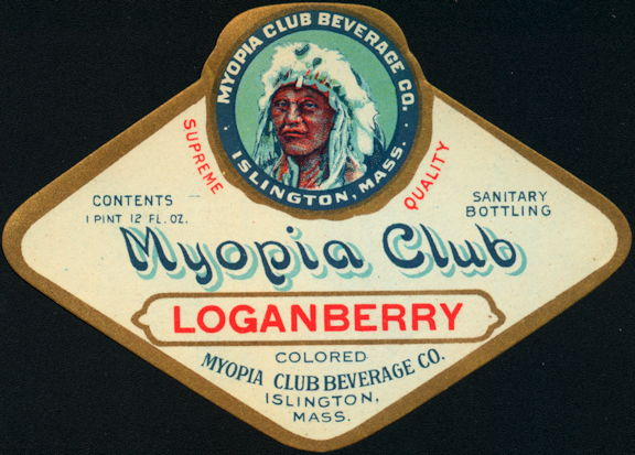 #ZLS233 - Rare Myopia Club Loganberry Soda Bottle Label