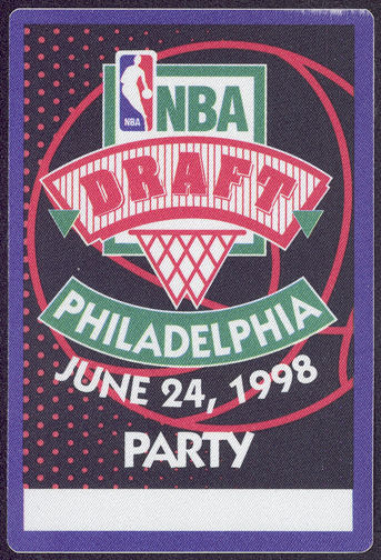 #BA701 - 1998 OTTO Cloth Backstage Pass for the NBA Draft Party